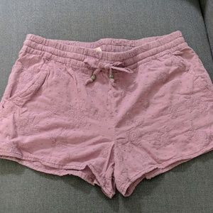 NEW Purple embroidered shorts